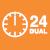 24-часовой двойной таймер