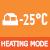 Обогрев при низкой окружающей температуре -25 °С